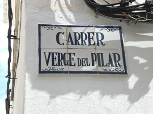 Street in Javea where you will find the art gallery