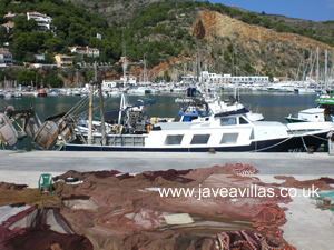 javea port fishing boats