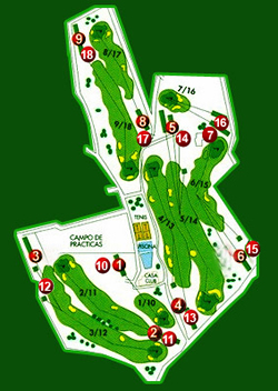 Javea Golf Course Hole by Hole Map